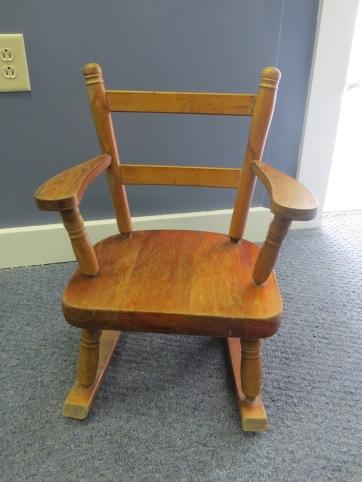Vintage Children's Wooden Rocking Chair