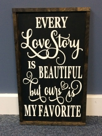 "Handmade ""Love Story"" Sign"