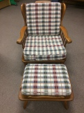 Conant & Ball Chair & Ottoman