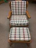 Conant & Ball Chair & Ottoman