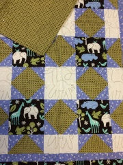 Handmade Zoo Animal Baby Quilt
