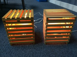 2 Handcrafted Pallet Lamps