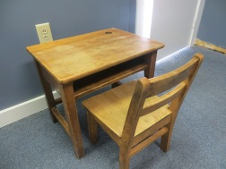 Antique Wooden School Desk w/ Chair