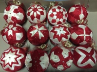 12 Handmade Christmas Balls