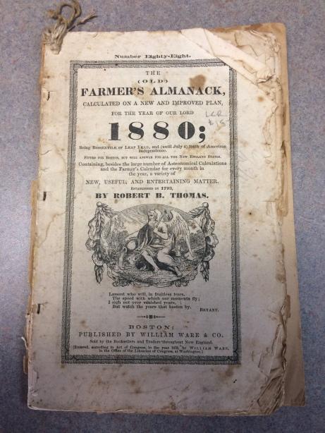 1880 Farmer's Almanac