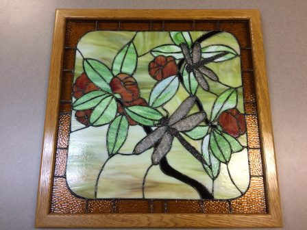 Dragonfly Stain Glass Piece