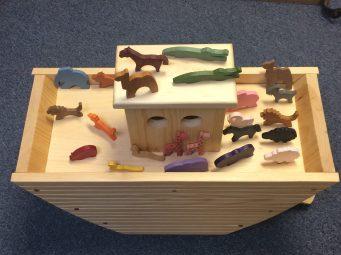 Hand Carved Noah's Ark Set