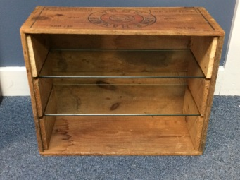 Repurposed Box Shelf