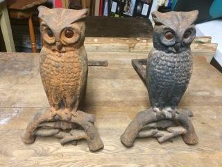 Owl Andirons