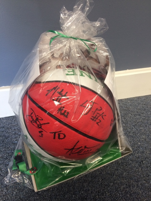 Maine Red Claws Autographed Basketball Package