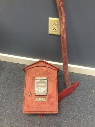 Gamewell Fire Alarm Box & Fireman's Axe